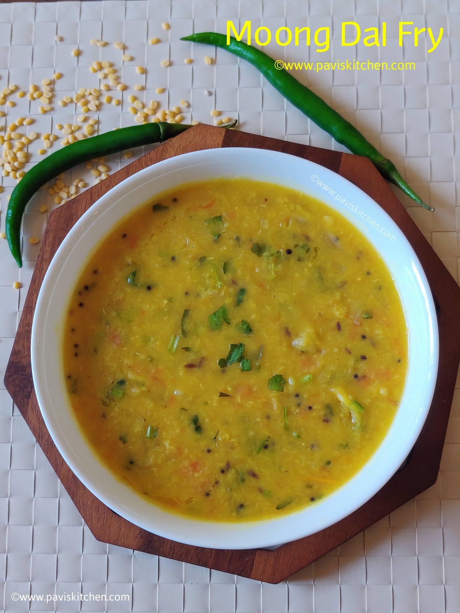 Yellow moong dal fry recipe | best Indian dal recipe | moong dal sabji recipe (stovetop & pressure cooker