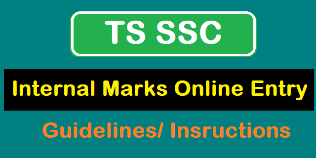 TS Guidelines, TS SSC, TS State, TS SSC Internal Marks Online, FA, Formative Assessment, BSE Telangana, Duties and Responsibilities