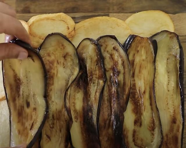 potato and eggplant layer