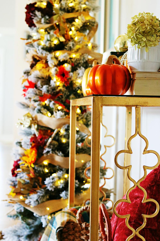 flocked-tree-harvest-fall-decorating-homemaking-decor-athomewithjemma