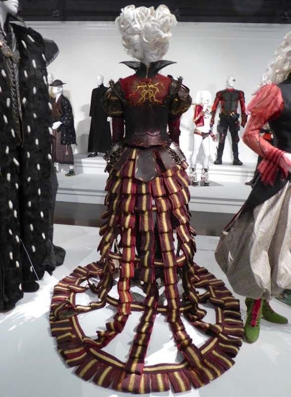 Red Queen costume train Alice Looking Glass