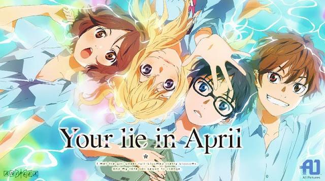 Your Lie in April animé à voir sur Netflix
