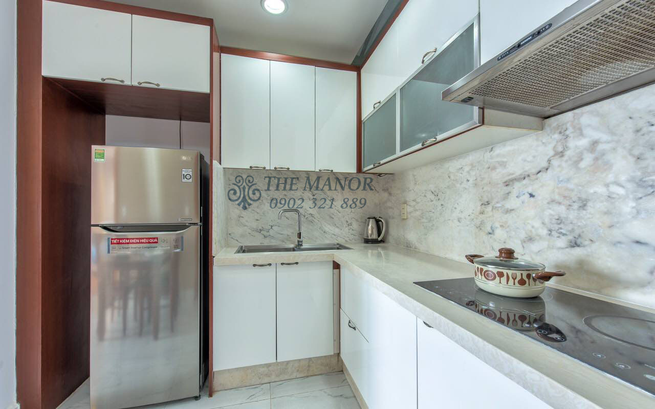 Cho thuê căn hộ chung cư The Manor 2PN - khu bếp