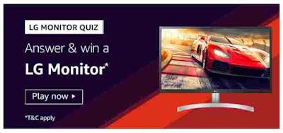 Amazon The Lg Monitor Quiz Answers – win a LG Monitor