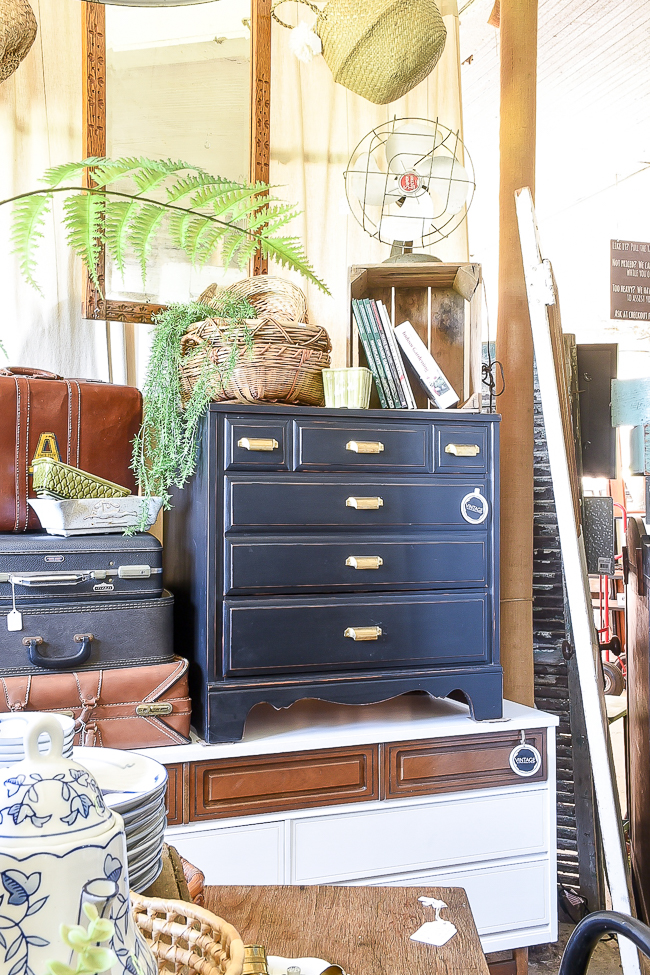 Small black dresser at Sweet Clover