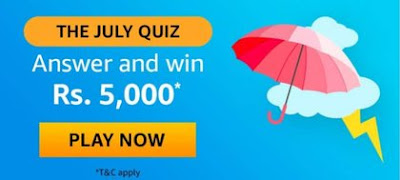 Amazon The July Quiz Answers