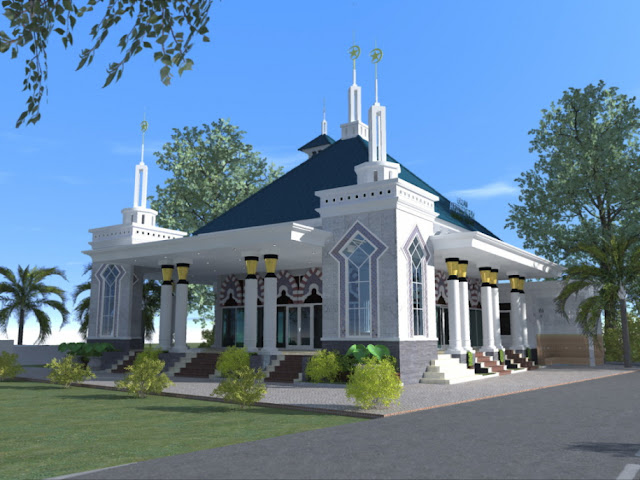 desain masjid minimalis terbaru