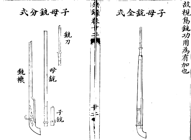 Ming Chinese Breechloading Arquebus with Bayonet