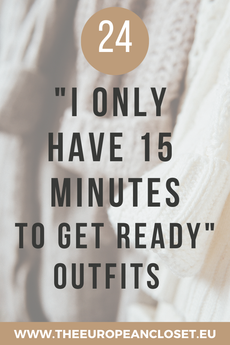 I've come up with 24 easy-to recreate outfits that you can put together quickly on those ''I only have 15 minutes go get ready'' days. When coming up with these outfits, I tried to keep them as simple as possible- outfits you can just put together in a time-crush and that don't need to be thought over. #fashion #quickoutfits #easyoutfits