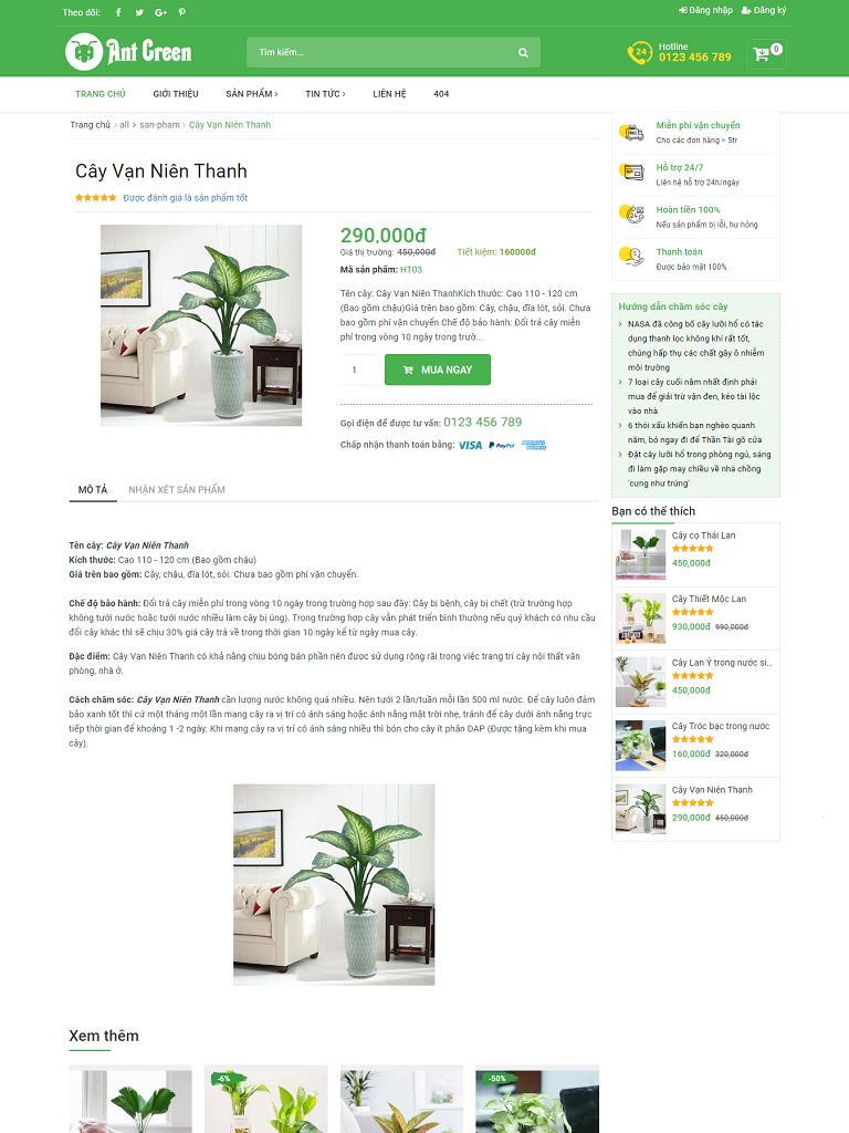 Template Blogspot bán cây cảnh đẹp chuẩn seo - Ảnh 2