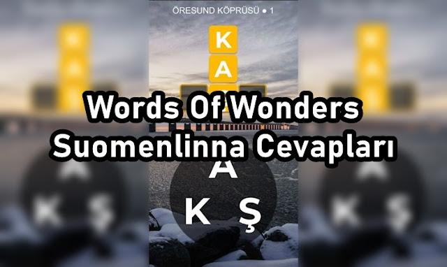Words Of Wonders Suomenlinna Cevaplari
