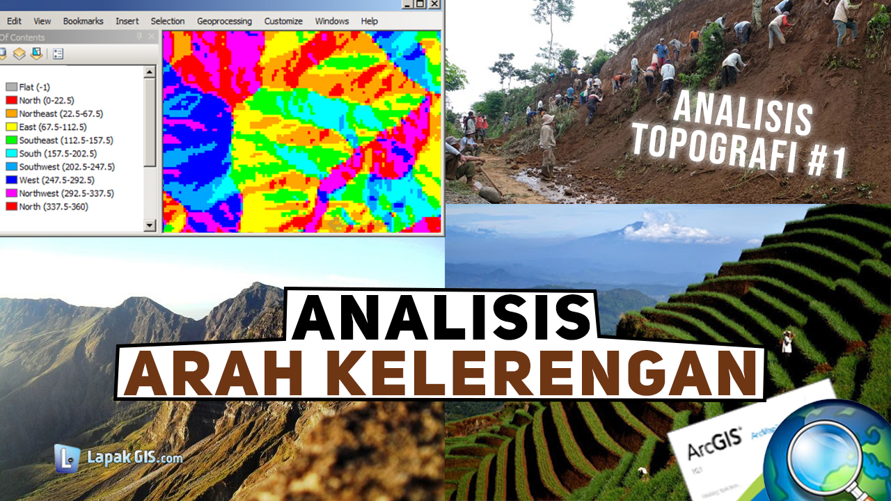 Analisis Topografi - Arah Kemiringan Lereng