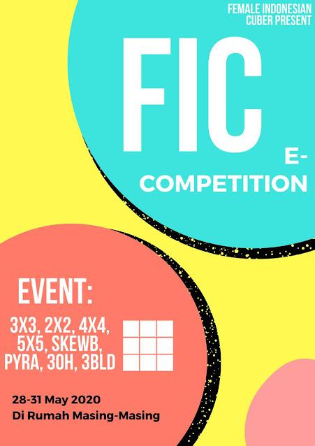 Poster FIC Competition 2020 yang diadakan oleh Female Indonesian Cuber