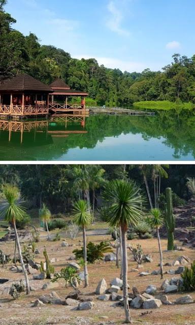 Taman Botani Negara tasik dan taman kaktus