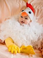 disfraz de bebe pollito