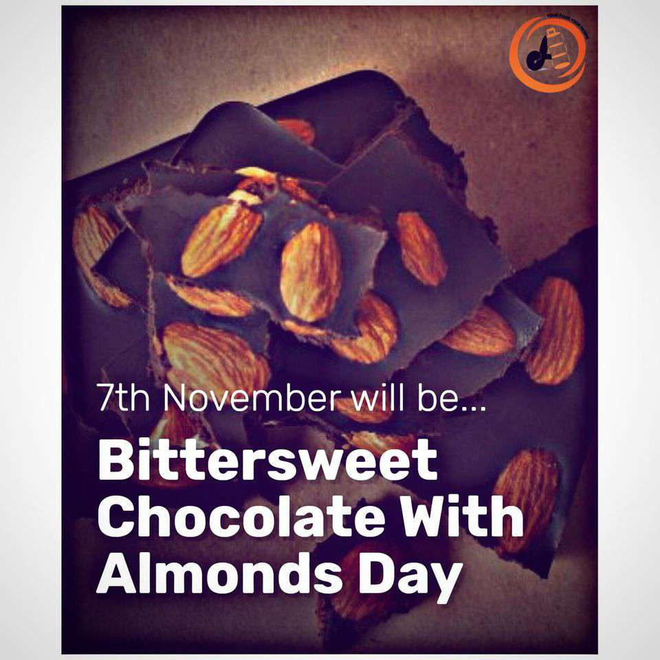 National Bittersweet Chocolate with Almonds Day Wishes Beautiful Image