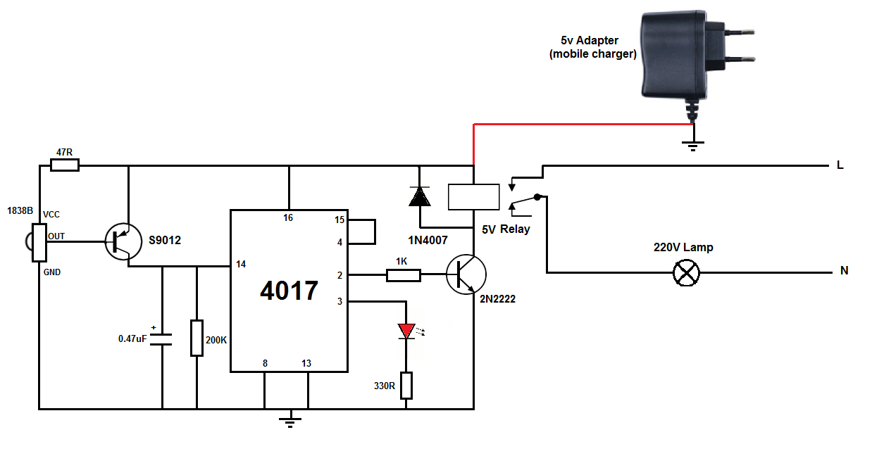 220v touch switch