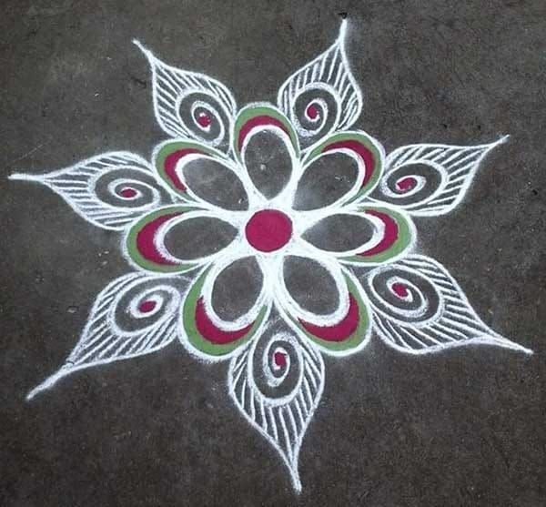 colourful rangoli designs for home