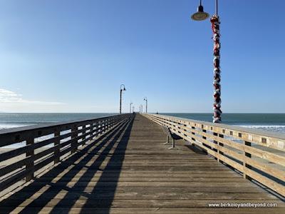 pier entrance in Cayucos, California