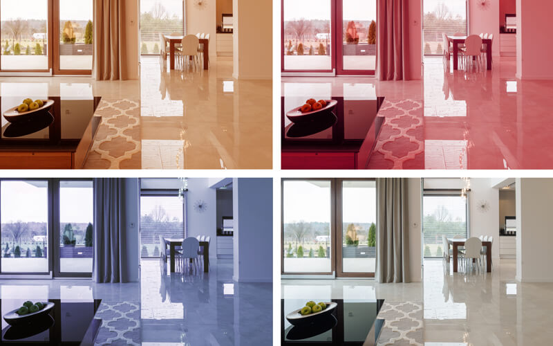 Colored marble—one of the biggest 2020 flooring trends—can dramatically change the look of a room