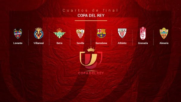 Copa del Rey 2020/2021, emparejamientos de cuartos de final