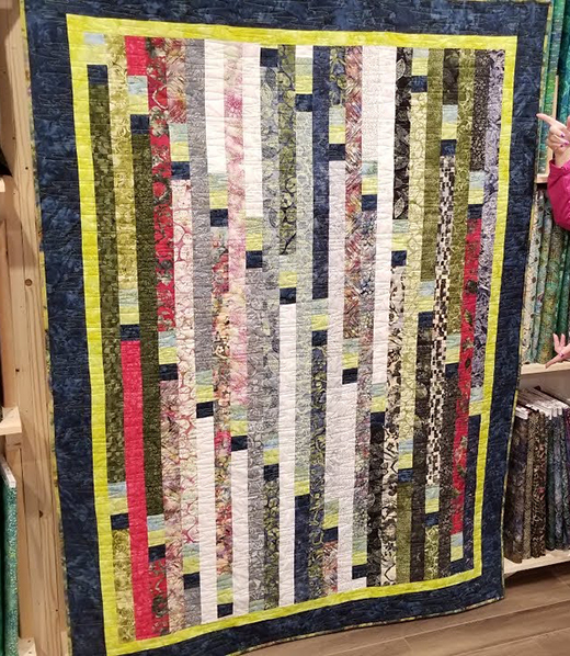 Jelly Roll Race Quilt designed by Donna Jordan for Jordan Fabrics