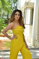Sony Charishta In a Yellow Jump Suit Sleevelss Deep neck Beautiful Actress ~  Exclusive 018.jpg