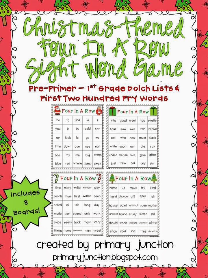 primary junction first grade christmas sight word game