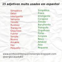 15 ADJETIVOS MUITO USADOS EM ESPANHOL, adjetivos em espanhol, aprender espanhol, curso de espanhol, dicas de espanhol, lista de adjetivos em espanhol