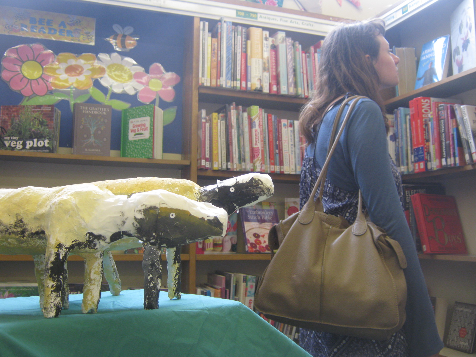 ARTSPACE SJB3: BLEAT AND GREET  SJB SHEEP AT ULVERSTON LIBRARY
