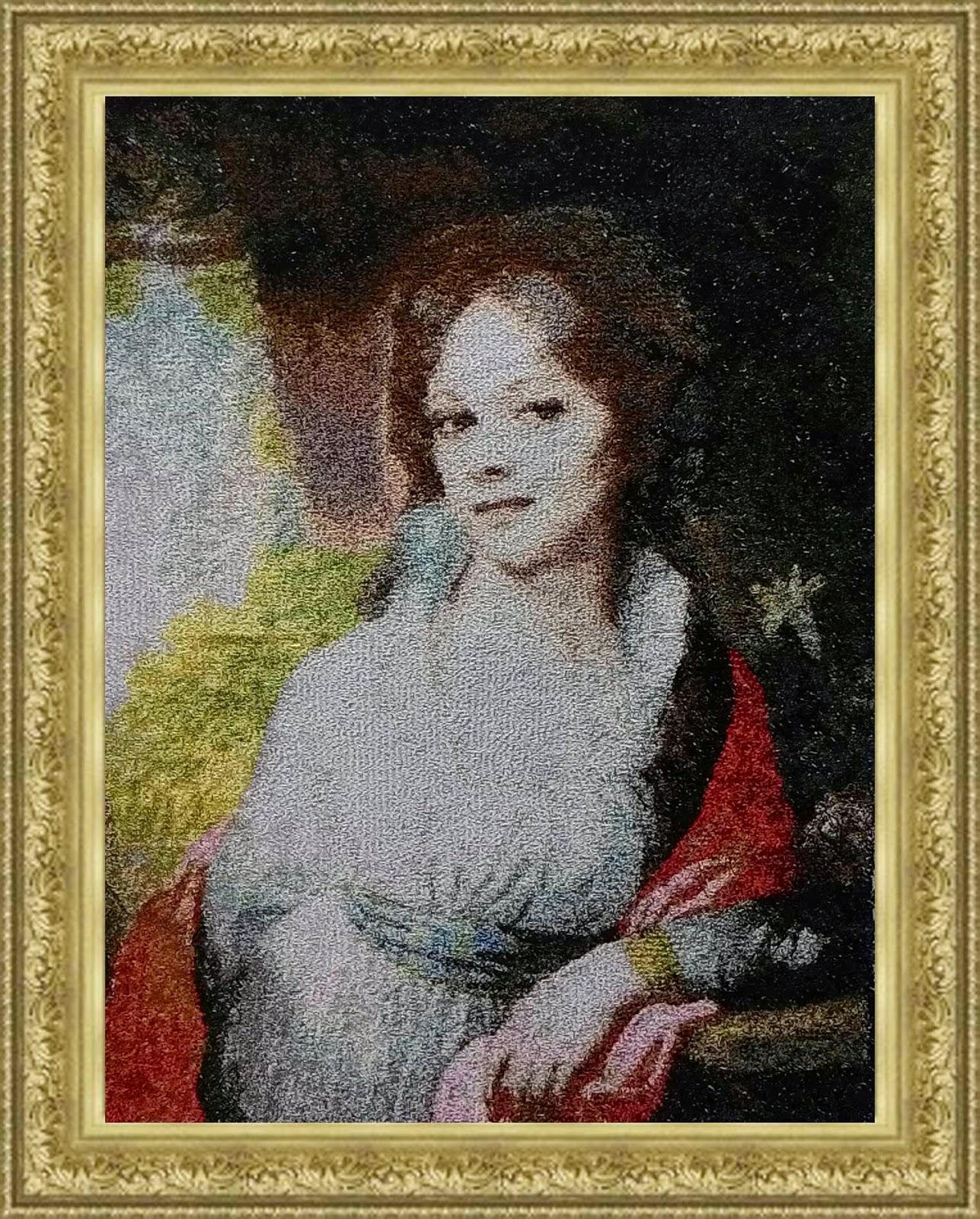 """Вышитая картина В.Л. Боровиковского """"Портрет М.И. Лопухиной."""