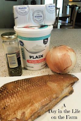 ingredients for Smoked Whitefish Dip