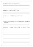 Atividade Cantinho da Flor (Texto Propaganda); PDF Grátis