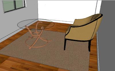 Cara Setting Material Karpet di Vray Sketchup