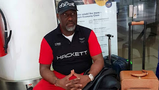 Picture Of Dino Melaye At The Airport Before Arrest ,As Group Condemns Action