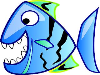 Pesce d'aprile blu