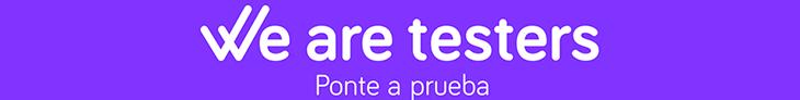 Banner de la página de We are testers