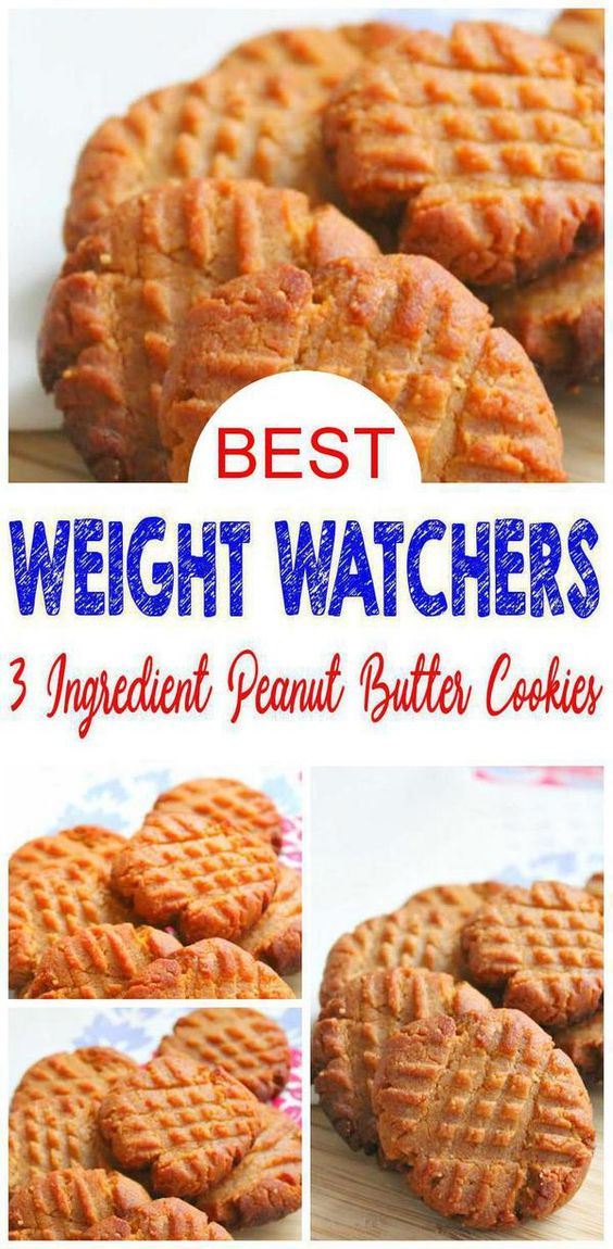 The best 3 ingredient Weight Watchers peanut butter cookies. If you are looking for an easy Weight Watchers dessert this is a must recipe to have in your recipe box. Flourless Weight Watchers diet friendly cookies you can mix up in under 10 minutes.