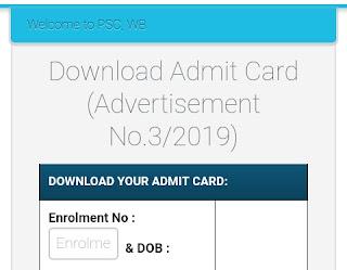 WBPSC Judicial Service Final Exam Admit Card