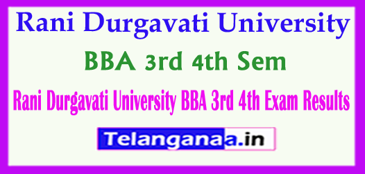 Rani Durgavati University BBA 3rd 4th Sem 2018 Exam Results Download