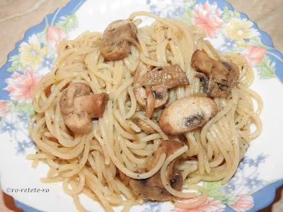 Reteta spaghete cu ciuperci si legume de post retete culinare mancare de paste italiana gatita rapid la tigaie,