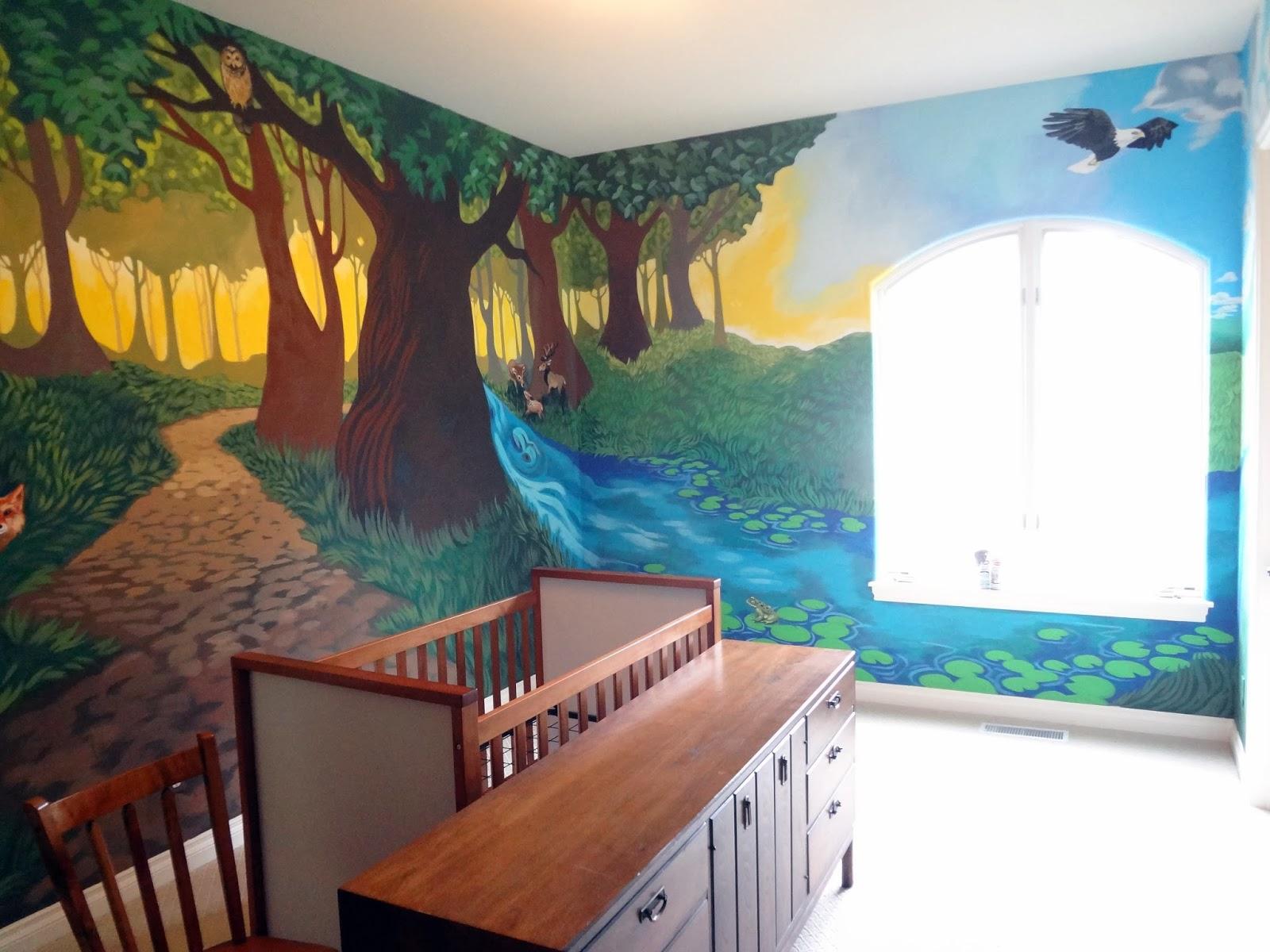 Kids Forest Mural Nursery Portland Muralist Room
