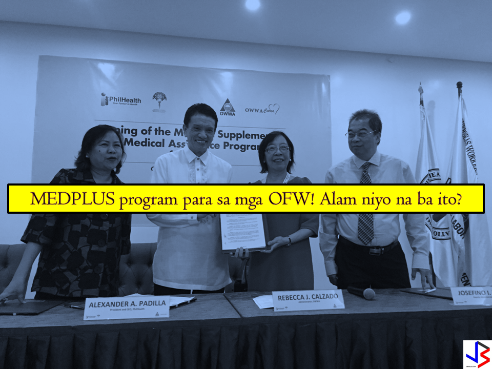 Another hooray for OFWs for their personal health insurance or public health insurance for their families! The Vice President for Corporate Affairs Group of  PhilHealth, Dr. Israel Francis Pargas announced the recently launched program for Overseas Filipino Workers - the OWWA ad PHILHEALTH OFW MEDPLUS.