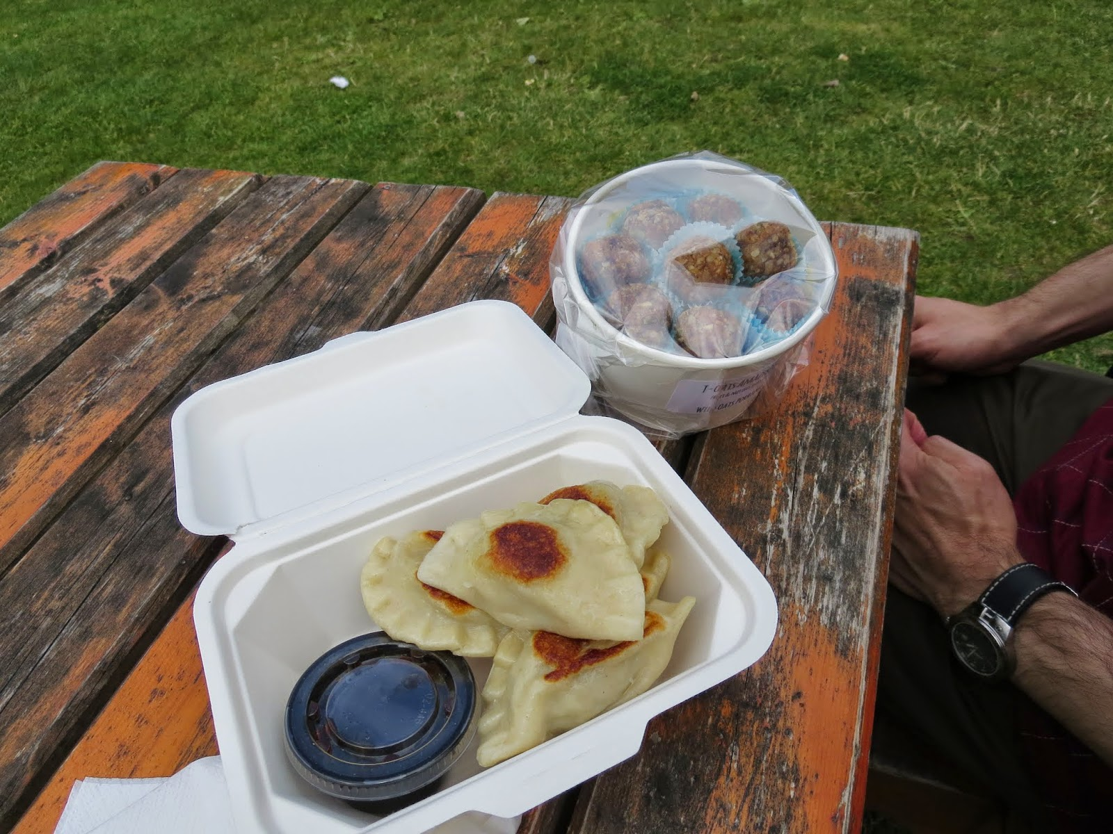 Pierogis and Amaze-balls at the Marlay Park food market in Dublin