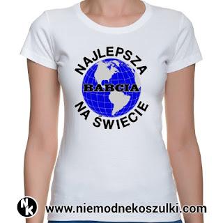 Prezent dla babci - koszulka Najlepsza babcia na świecie