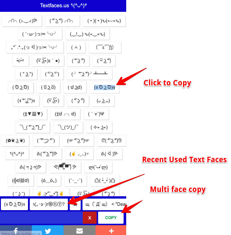 Text Faces Uses