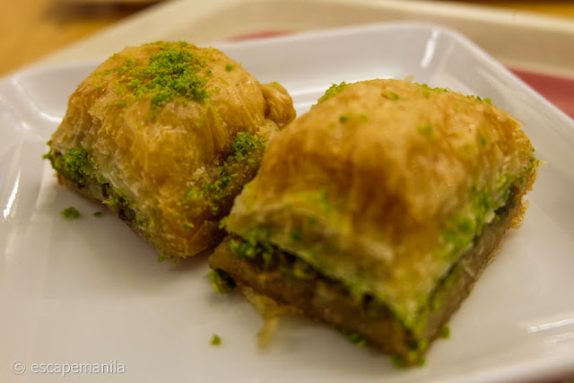 Baklava, a popular dessert in Turkey and the Middle East.