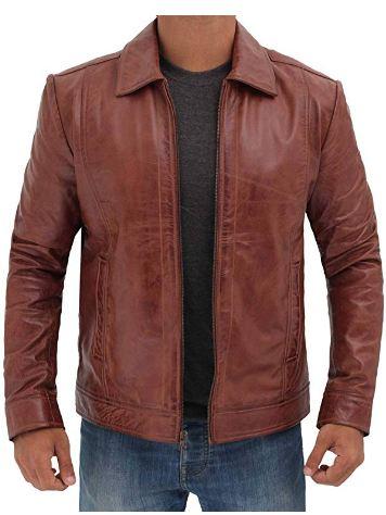 Real Lambskin Men's Leather Jacket