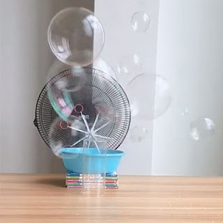 Homemade bubble machine for kids