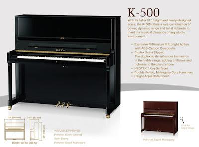 Đàn piano kawai k-500 hiện nay  giá bao nhiêu